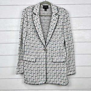St. John Boutiques Knit One Button Blazer Size 12